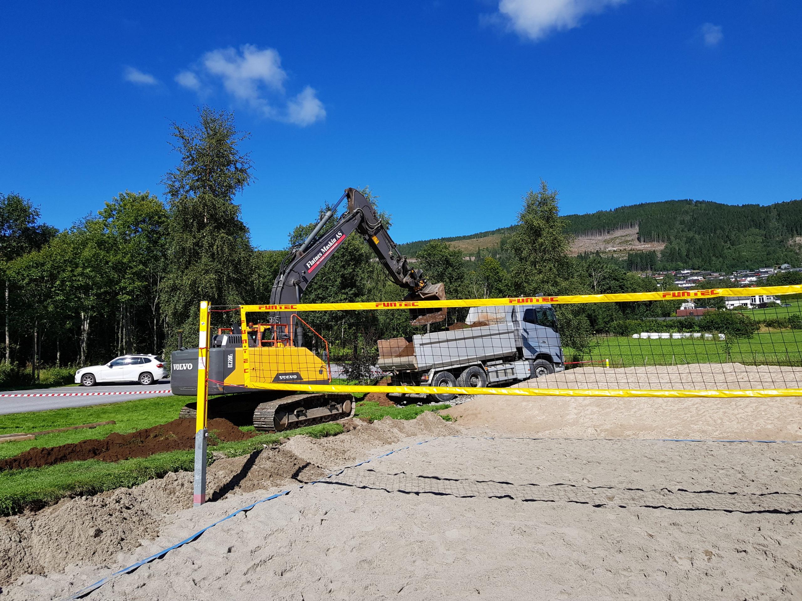 Utvidelse av volleyballbana på Årneset i Volda for KFUM Volda Volley
